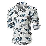 MRULIC Herren Shirt Kentkragen Langarm Shirts Businesshemd Freizeithemd Oktoberfest Karnevals kostüm(B-Weiß,EU-48/CN-XL)