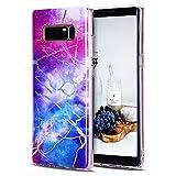 CaseLover Galaxy Note 8 Hülle, TPU Weiche Silikon Handyhülle Dünne Bunte Natur Marmor Muster Gehäuse Schutzhülle Cover für Samsung Galaxy Note 8 6,3