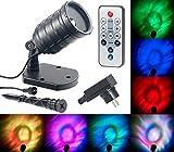 Lunartec Garten Wasser-Projektor: LED-RGB-Projektor für Wellen-Licht-Effekte, Timer, Fernbedienung, IP65 (LED-Projektor für Lichteffekt)