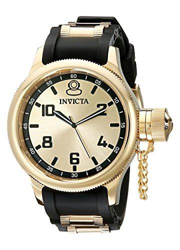 Invicta 1438 Russian Diver Reloj para Hombre acero inoxidable Cuarzo Esfera oro