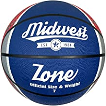Midwest Zone Basketball Blue/White/Red Size 7 - Pelota de baloncesto, color