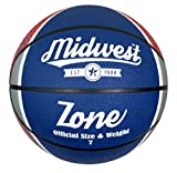 Best Basketball Balls - Midwest Midwest Zone Basketball Blue/White/Red Size 7 Basketball Review