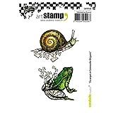 Carabelle Studio Tampon Cling de Art, Escargot et Grenouille Origami, pour Les Projets D'emboutissage, Création de Cartes et Scrapbooks...