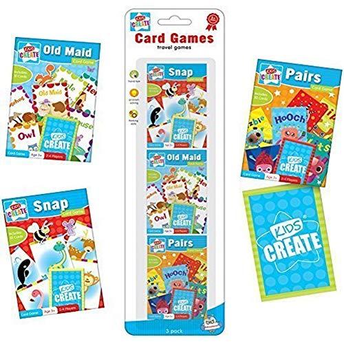 3x Klassische Kinder Kartenspiele, Snap, Pairs, Old Maid -