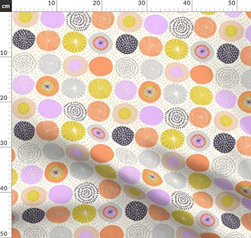 Abstrakt, Geometrie, Kreis, Ornament, Dekor, Kinder Stoffe - Individuell Bedruckt von Spoonflower - Design von Alenkakarabanova Gedruckt auf Leichter Baumwoll Twill -