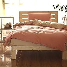 Juego de cama Algodón Abrasivo Multicolor Opcional Cama Individual Edredón 1.35m Cama ( Color : D )
