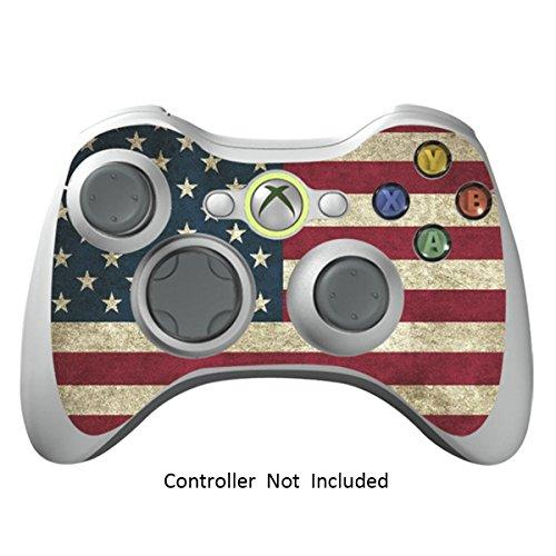 Xbox 360 Controller Designfolie Sticker - Vinyl Aufkleber Schutzfolie Skin für Xbox 360 Controller - Battle Torn Stripes Metal Gear Solid 4 Für Xbox 360