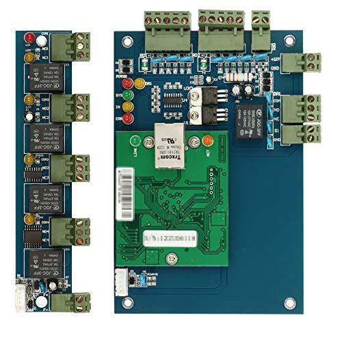 ZOTER Access Control Board, Ethernet TCP IP Netzwerkeingang Türpaneel Controller 1 Tür 2 Leser Datenbank Security System + Erweiterungsboard -