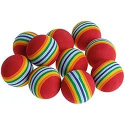 10pcs Bunte Haustier-Regenbogen-Schaum-Fetch-Bälle, Die Wechselwirkenden Hundelustiges Spielzeug Ausbilden
