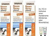 Nasenspray Ratiopharm Erwachsene 15ml - 3er Sparset - inkl. einer