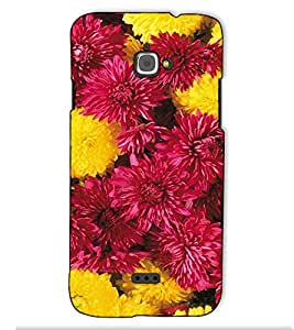 Fuson Designer Back Case Cover for InFocus Bingo 50 (Colurful Flowers Themes)