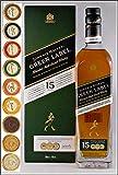 Johnnie Walker Green Label 15 Jahre Blend Malt Whisky mit 9 DreiMeister Edel Schokoladen in 9 Variationen, kostenloser Versand