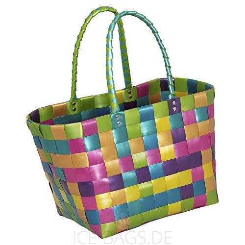 Preisvergleich Produktbild Witzgall Shopper Vintage Style 5010 15 ELKE bunt schimmernd, 37cm x 24cm x 28cm, Einkaufstasche, Einkaufsshopper