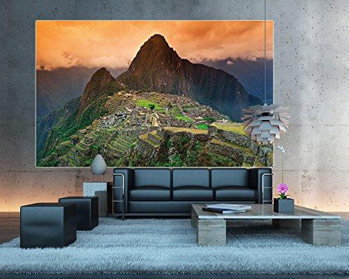 Poster Machu Piccu Wandbild Dekoration Südamerika Peru Sehenswürdigkeiten Inka Stadt Ruine UNESCO Welterbe Kulturlandschaft | Wandposter Fotoposter Wanddeko Wandgestaltung by GREAT ART (140 x 100 cm) - 5