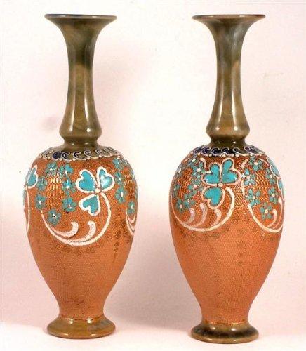 Doulton Vase (Doulton Slater Paar Art Nouveau Vasen-19,1cm in Höhe)