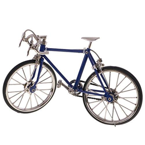 Homyl 1:10 Maßstab Legierung Rennrad Mountainbike Fahrrad Modell Spielzeug Dekoration Sammlung - Dunkelblau