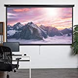 VonHaus 120-Inch Pull-Down Projector Screen | 16:9 Aspect Ratio | 1.1 Screen Gain Rating – Home Cinema/Theatre | For Wall or Ceiling Mounting