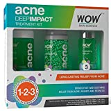 WOW Acne DEEP IMPACT TREATMENT KIT - STEP 1-2-3 - Acne Spot Therapy