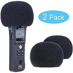 YOUSHARES pare-brise en mousse pour l'enregistrement Micro H1, Mic pour pare-brise Pop filtre pour H1 Micro (lot de 2)