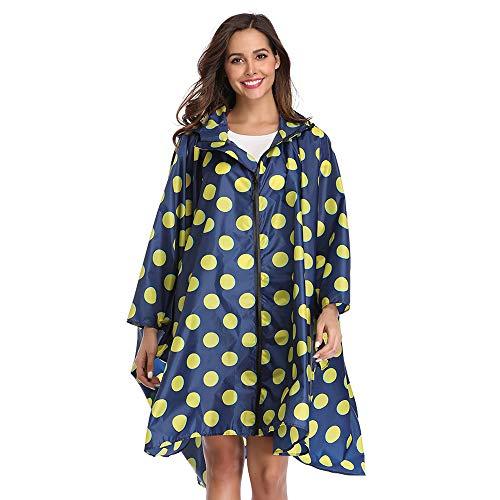 Summer Mae Regen Poncho mit Reißverschluss mit Kapuze wasserdichte Outdoor Windschutz Bunte Ripple Regenjacke