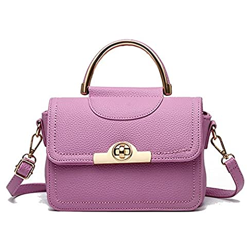 C.CHUANG Car Suture Buckle Fashion Handbag Shoulder Messenger Bag(Rose Red£©