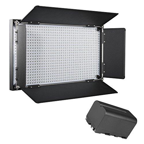 Walimex Pro LED Brightlight 876 BI Color Akku Set inkl. 2 Akkus und TascheFlächenleuchte Studioleuchte