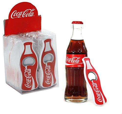 5 x Coca Cola Flaschenöffner Coke Flaschen Öffner CocaCola mit Plastik umschlossenes Metall mit Magnet