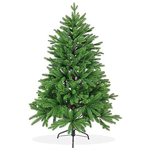 Künstlicher Weihnachtsbaum 150cm in Premium Spritzguss Qualität, grüne Nordmanntanne, Tannenbaum mit PE Kunststoff Nadeln, Nordmannstanne