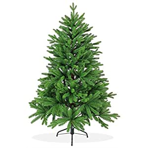 Künstlicher Weihnachtsbaum 150cm in Premium Spritzguss Qualität, grüne Nordmanntanne, Tannenbaum mit PE Kunststoff Nadeln, Nordmannstanne Christbaum