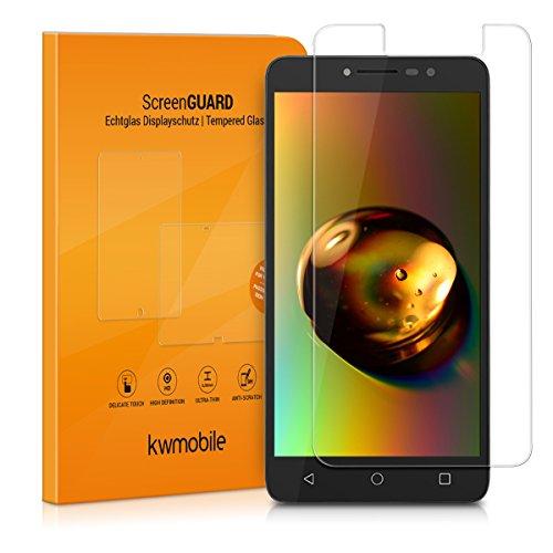 kwmobile Alcatel A3 XL Folie - Glas Handy Schutzfolie für Alcatel A3 XL - Full Screen Bildschirm Schutz