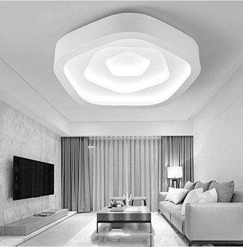 Fünf Leichte Anhänger Kronleuchter (Beleuchtung, LED Deckenleuchte, neuen Stil fünf Ecken, Diecai decke Wohnzimmer Lampe, einfache Art und Weise Beleuchtung fürs Schlafzimmer (drei Farben leicht), 63 cm)