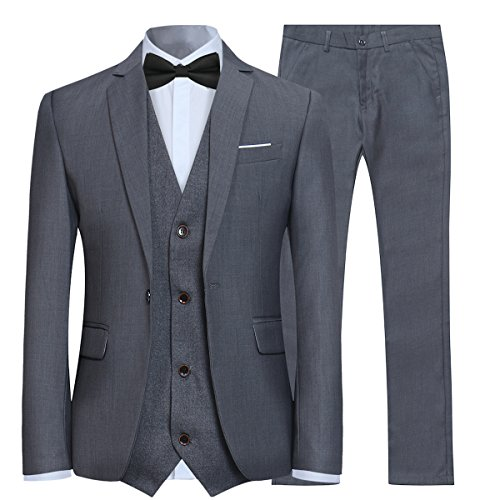 Allthemen Anzug Herren Slim Fit Herrenanzug 3-Teilig Anzug Smoking Anzugjacke Hose Weste