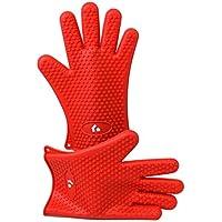 Magnus Home - Paquete de 2 - guantes de cocina de silicona resistente al calor,
