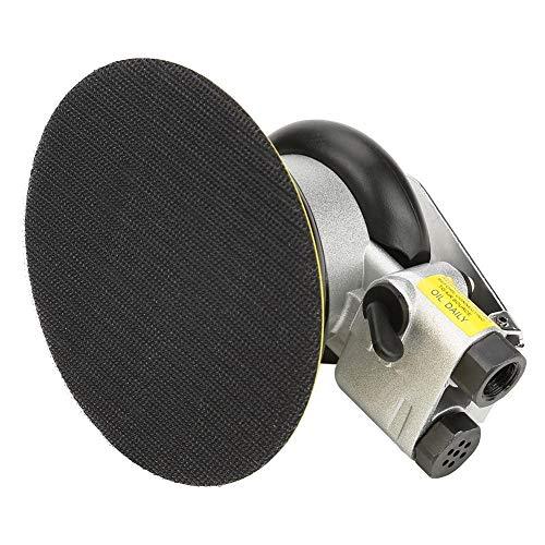 """Lijadora de aire, AT-780 5\""""/ 4\"""" 10000 rpm Pulidor redondo de lijadora orbital de aire aleatorio, Herramienta neumática de lijado manual para pulido de superficies(5 pulgadas (5\""""))"""