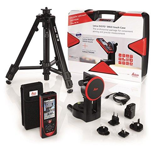 Preisvergleich Produktbild Leica Geosystems DISTO D810 Das Profi-Komplettsystem für Praktisches Anzielen, Präzises Messen und das Dokumentieren mit Bildern, bis 250 m Messbereich, Bluetooth Schnittstelle für Apps