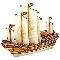 Puzzles & Geduldspiele DIY 3D Papier Puzzle Schiff Segelboot Schiffsmodell Modellbau Spielzeug