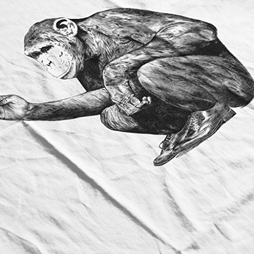 Mambo Smoking Monkey Women's Vest White