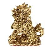 Fenteer Retro Chinesische Kylin Drachen Figuren Statue Drachenfigur Feng Shui Reichtum Glücksbringer