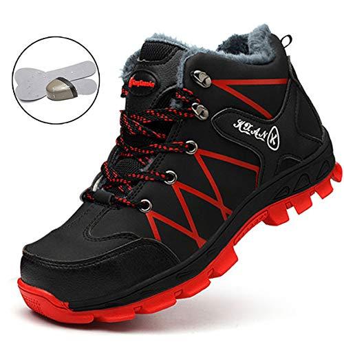 SROTER Mujer Hombre Invierno Botas de Seguridad Trabajo Zapatillas con Puntera de Acero Impermeables...