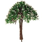 Trifycore 2 PCS 6 cm Miniatur-Blumen-Dekoration Layout-Modell für Kinder Dekorieren Sand Gartentisch Weiß Grün