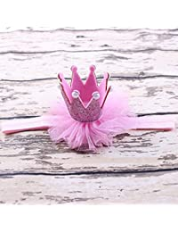 Bobury Recién nacido princesa brillo Cinta de cabeza Fotografía Nacimiento Cumpleaños pelo de la venda del abrigo de apoyo de la foto Headwear infantil