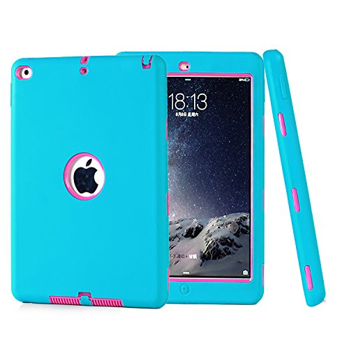 Fisel Schutzhülle für iPad Air 2, iPad 6, dreilagig, robust, stoßfest, Hybrid, strapazierfähig, Kratzfest, stoßfest, stoßfest - Handschlaufe Ipad Air