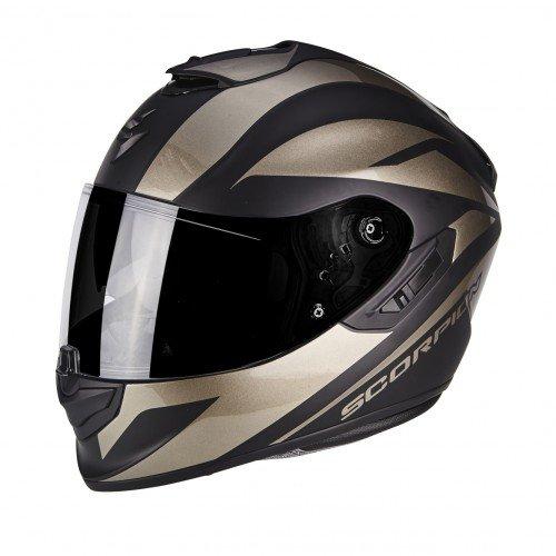 Scorpion Casco moto EXO-1400 AIR Freeway II Opaco Nero-titanio L