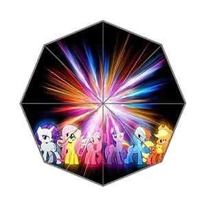 Custom Umbrella Hot Sale Cartoon My Little Pony Art Design 43.5 inch Auto Foldable Umbrella