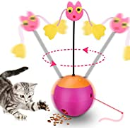 Mumoo Bear mb-cb01 Interactive Laser Cat Toy, 3 in 1 Multifunction Automatic Spinning Cat Toy Ball Tumbler wit