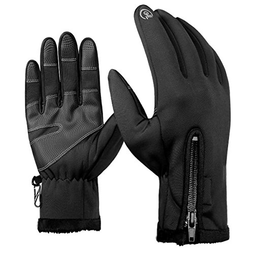 Handschuhe,Natuce Smart Phones Touchscreen Wasserdichte Schwarze Sport Warm Handschuhe F