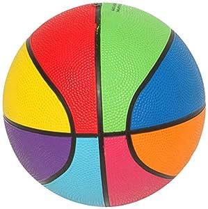 First-Play - Mini balón de Baloncesto arcoíris, Multicolor