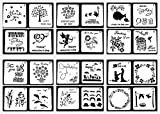 Lirener 24 Stück Zeichenschablonen Weihnachten Schablone Kunststoff Zeichnung