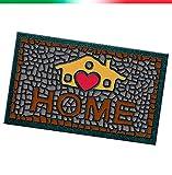 Fußmatte mit Kieselmotiv, rutschfester Gummi, 40x 70cm, für den Innen- und Außenbereich, Modell Format 13