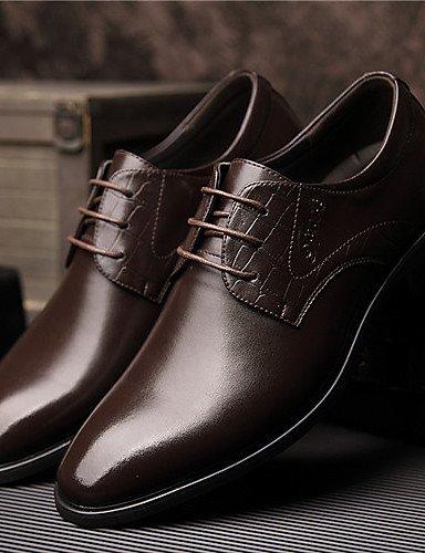 Chaussures d'hommes mariage/Office & Carrière/Party & Soir Oxford Cuir noir/brun Black